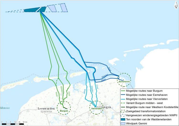 Eemshaven preferred location for connection Ten Noorden van de Waddeneilanden OWF