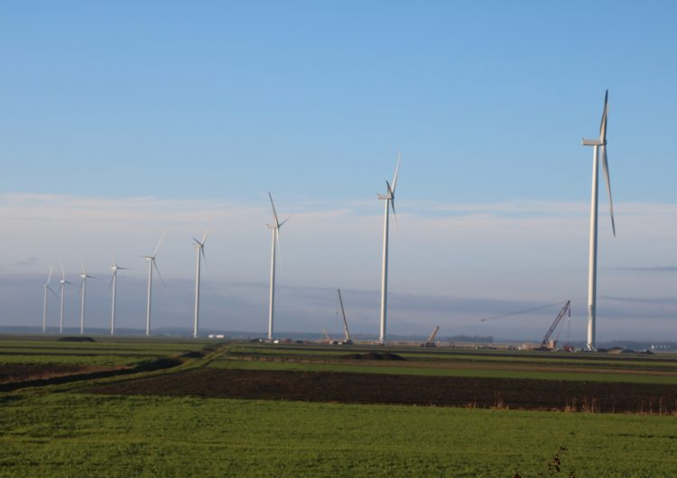Construction first string of turbines in De Drentse Monden en Oostermoer WF completed