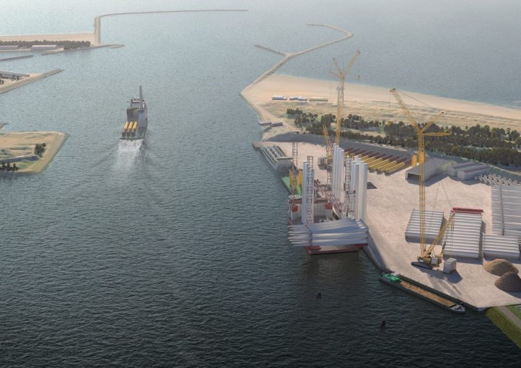 New energy port near IJmuiden to support planned adjacent offshore wind farms