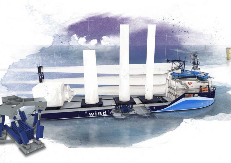 Ampelmann & C-Job reveal wind feeder vessel for US waters