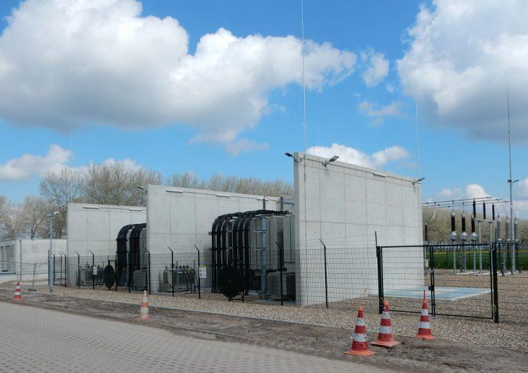Zeewolde Wind Farm substation ready