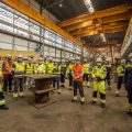 First steel cutting of the Hollandse Kust (west Alpha) offshore transformer station