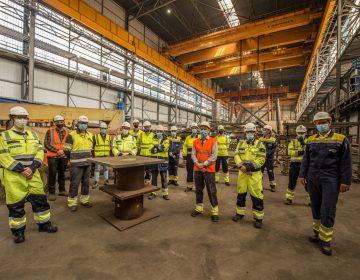 Start steel fabrication for Hollandse Kust (west Alpha) topside