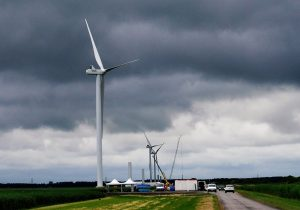 First turbine Zeewolde Wind Farm produces power