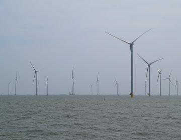 Final turbine stands in Fryslân Wind Farm