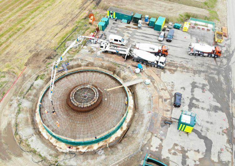 Start concrete works for Windplanblauw foundations