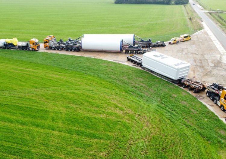 First turbine components arrive at Den Tol Wind Farm