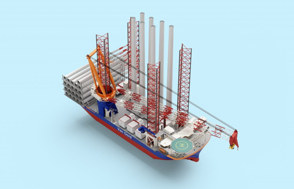 Van Oord orders new installation vessel that can install 20 MW offshore wind turbines